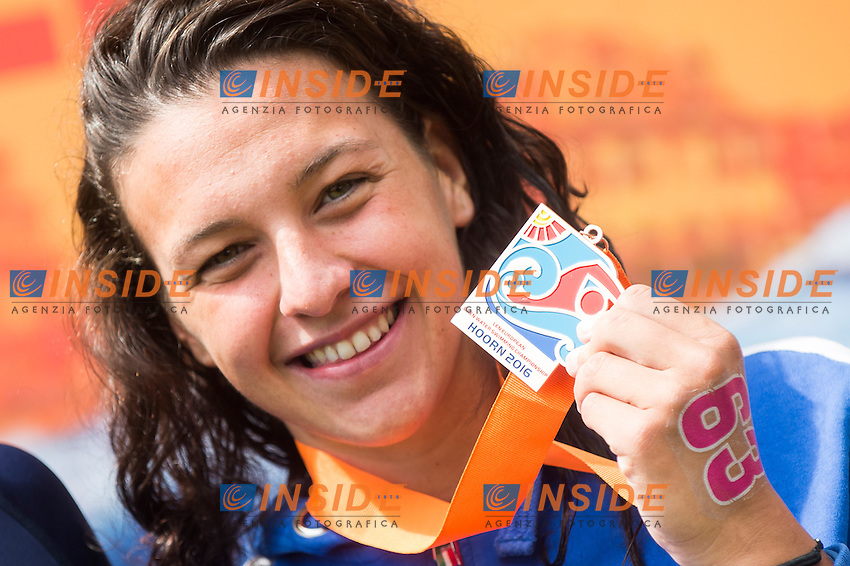 BRIDI Arianna ITA bronze medal<br /> Hoorn, Netherlands <br /> LEN 2016 European Open Water Swimming Championships <br /> Open Water Swimming<br /> Women's 10km<br /> Day 01 10-07-2016<br /> Photo Giorgio Perottino/Deepbluemedia/Insidefoto