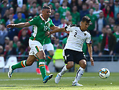 June 11th 2017, Dublin, Republic Ireland; 2018 World Cup qualifier, Republic of Ireland versus Austria;  Jonathan Walters of Ireland in action against Stefan Lainer of Austria