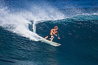 The late Andy Irons (HAW) free surfing at St Pierre on Reunion Island. circa 2005 Photo: Joli