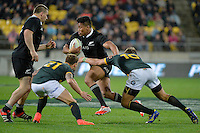 Julian Savea in action during the Rugby Championship - All Blacks v Springboks at Westpac Stadium, Wellington, New Zealand on Saturday 13 September 2014.<br /> Photo by Masanori Udagawa.<br /> www.photowellington.photoshelter.com