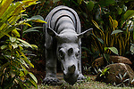 The only Rhino we saw was this statue seen at the Sepilok Nature Resort on Tuesday April 30th 2013 in Sandakan, Malaysia. (Photo by Brian Garfinkel)