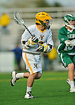 24 April 2012: University of Vermont Catamount Attackman/Midfielder Dyson White, a Freshman from Richmond, VA, in action against the Dartmouth College Big Green at Virtue Field in Burlington, Vermont. The Catamounts fell to the visiting Big Green 10-5 in Men's Varsity Lacrosse action. Mandatory Credit: Ed Wolfstein Photo