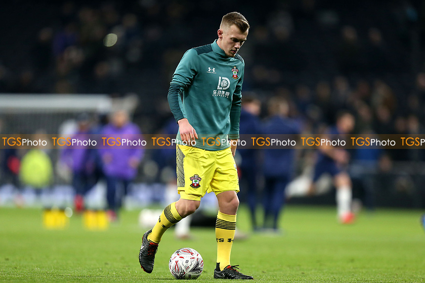 James Ward-Prowse of Southampton warms up before Tottenham Hotspur vs Southampton, Emirates FA Cup Football at Tottenham Hotspur Stadium on 5th February 2020
