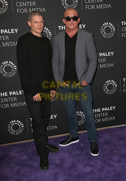 29 March 2017 - Beverly Hills, California - Wentworth Miller, Dominic Purcell. 2017 PaleyLive LA Spring Season - &quot;Prison Break&quot; Screening And Conversation held at The Paley Center for Media.    <br /> CAP/ADM/FS<br /> &copy;FS/ADM/Capital Pictures