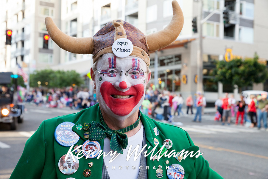 Viking Clown, 17th of May Festival 2016, Norway's Constitution Day, Ballard, Seattle, WA, USA.