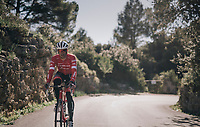 Jasper Stuyven (BEL/Trek-Segafredo) up the Col de Randa during a solo ride at the Trek-Segafredo Mallorca training camp <br /> <br /> January 2018