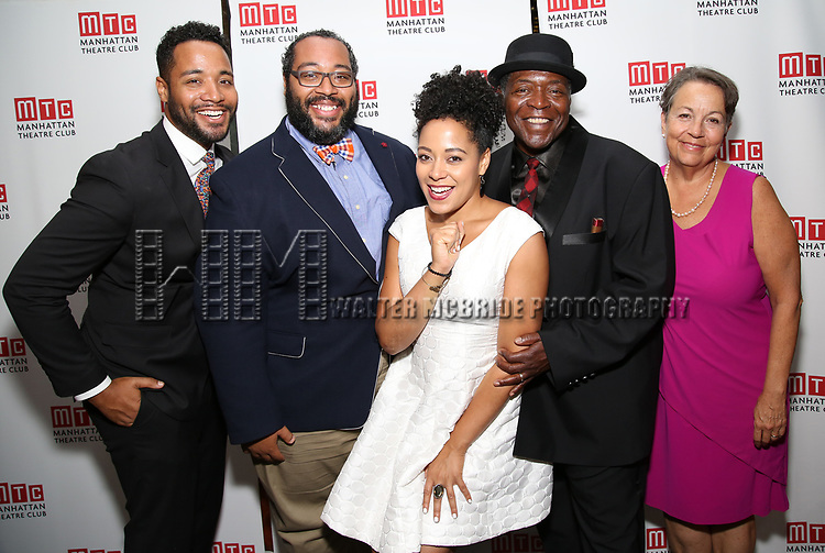 Chuck Cooper with Deborah Brevoort, and family attends the Broadway Opening Night After Party for 'The Prince of Broadway' at Bryant Park Grill on August 24, 2017 in New York City.