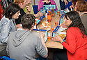 :: INTERCULTURAL PATCHWORK ::<br /> PARTICIPANTS FROM SEVERAL COUNTRIES AT THE DAWSON CENTRE ARE TREATED TO A TRADITIONAL SCOTTISH DINNER OF FISH SUPPERS, BROON SAUCE AND PICKLES, ALL WASHED DOWN WITH LOTS OF SCOTLAND'S OTHER NATIONAL DRINK, IRN-BRU.
