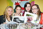 Snappers: Keeley Murphy Caherciveen, Clodagh Curran Caherciveen, Katie Groves Firies and Katie Phealan Castlemaine display their pictures the opening of KDYS photo exhibition by Bishop Bill Murphy in the KDYS centre Killarney on Wednesday..