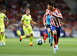 Atletico de Madrid's Alvaro Morata during La Liga match. Aug 18, 2019. (ALTERPHOTOS/Manu R.B.)Atletico de Madrid's Alvaro Morata  during the Spanish La Liga match between Atletico de Madrid and Getafe CF at Wanda Metropolitano Stadium in Madrid, Spain