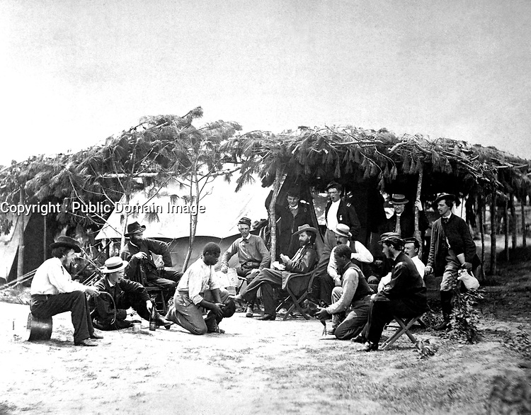 A Fancy Group, Army of the Potomac, Petersburg, VA, August 1864. David Knox. (War Dept.)<br /> Exact Date Shot Unknown<br /> NARA FILE #:  165-SB-76<br /> WAR & CONFLICT BOOK #:  144