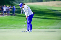 Hye-Jin Choi (a)(KOR) watches her birdie putt on 9 during Sunday's final round of the 72nd U.S. Women's Open Championship, at Trump National Golf Club, Bedminster, New Jersey. 7/16/2017.<br /> Picture: Golffile | Ken Murray<br /> <br /> <br /> All photo usage must carry mandatory copyright credit (&copy; Golffile | Ken Murray)