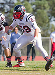 Palos Verdes, CA 11/03/17 - Parker Violette (Palos Verdes #59) in action during the Palos Verdes vs Palos Verdes Peninsula CIF Varsity football game at Peninsula High School for the battle of the hill.