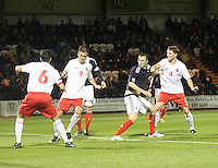 Danny Wilson attacks in the Scotland v Luxembourg UEFA Under 21 international qualifying match at St Mirren Park, Paisley on 6.9.12.
