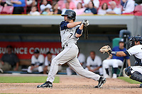 June 15 2008:  Infielder Andy Parrino (7) of the Fort Wayne Wizards, Class-A affiliate of the San Diego Padres, during a game at Fifth Third Field in Comstock Park, MI.  Photo by:  Mike Janes/Four Seam Images