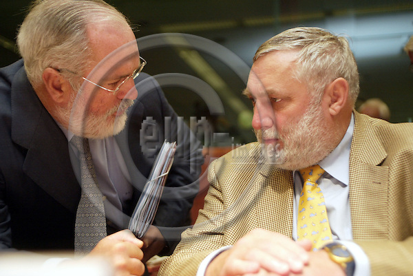 Brussels---Council---Council of Agriculture    29.09.2003.?;   Franz FISCHLER,  Commissioner for Agriculture and Fisheries ..PHOTO: EUP-IMAGES.COM / ANNA-MARIA ROMANELLI