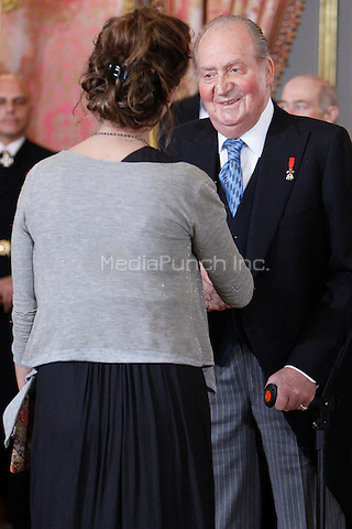 King Juan Carlos of Spain attends the reception of the diplomatic corps in Spain at Palacio Real. January 23, 2013. (ALTERPHOTOS/Caro Marin) /NortePhoto /MediaPunch Inc. ***FOR USA ONLY***