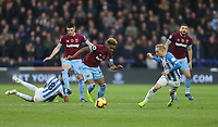 West Ham United's Grady Diangana and Huddersfield Town's Alex Pritchard<br /> <br /> Photographer Rob Newell/CameraSport<br /> <br /> The Premier League - Huddersfield Town v West Ham United - Saturday 10th November 2018 - John Smith's Stadium - Huddersfield<br /> <br /> World Copyright © 2018 CameraSport. All rights reserved. 43 Linden Ave. Countesthorpe. Leicester. England. LE8 5PG - Tel: +44 (0) 116 277 4147 - admin@camerasport.com - www.camerasport.com
