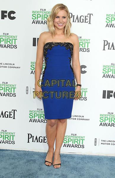 1 March 2014 - Santa Monica, California - Kristen Bell. 2014 Film Independent Spirit Awards held at Santa Monica Beach. <br /> CAP/ADM/RE<br /> &copy;Russ Elliot/AdMedia/Capital Pictures