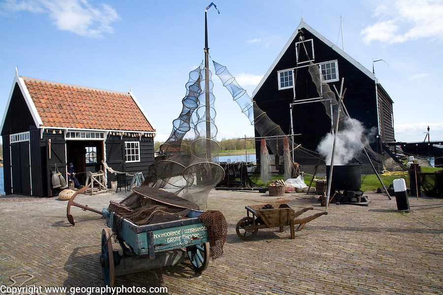Fishing harbour, Zuiderzee museum, Enkhuizen, Netherlands