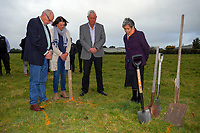 From left, Mike Allen, Tinks Pottinger and John Booth with kahungunu Aunty Lou Cook. South Wairarapa Vet Services Clareville Vet Clinic Sod-Turning Ceremony at Carterton, New Zealand on Thursday, 4 August 2017. Photo: Dave Lintott / lintottphoto.co.nz