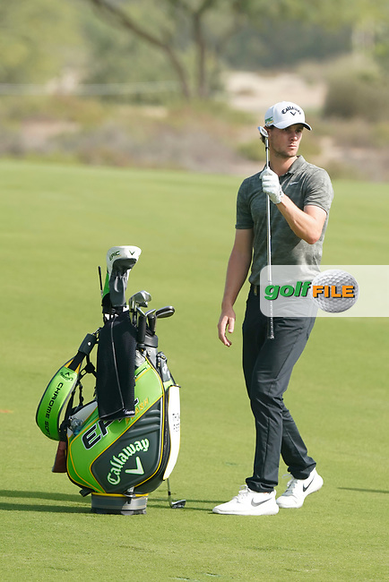 Thomas Pieters (BEL) during the third round of the Omega Dubai Desert Classic, Emirates Golf Club, Dubai, UAE. 26/01/2019<br /> Picture: Golffile | Phil Inglis<br /> <br /> <br /> All photo usage must carry mandatory copyright credit (&copy; Golffile | Phil Inglis)