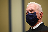 Admiral Brett Giroir, United States Assistant Secretary for Health wears a protective mask during a House Select Subcommittee on the Coronavirus Crisis hearing in Washington, D.C., U.S., on Friday, July 31, 2020. Trump administration officials are set to defend the federal government's response to the coronavirus crisis at the hearing hosted by a House panel calling for a national plan to contain the virus.<br /> Credit: Erin Scott / Pool via CNP /MediaPunch