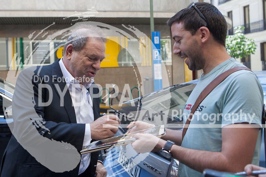 USA producer Harvey Weinstein arrives to Spanish Film Academy