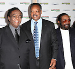 Songwriter/record producer Lamont Dozier, Civil Rights Activist Jesse Jackson and songwriter/record producer Brian Holland attending the Broadway World Premiere Launch for 'Motown: The Musical' at the Nederlander in New York. Sept. 27, 2012