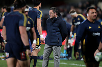 Highlanders assistant coach Mark Hammett after the Super Rugby match between the Crusaders and Highlanders at Wyatt Crockett Stadium in Christchurch, New Zealand on Friday, 06 July 2018. Photo: Martin Hunter / lintottphoto.co.nz