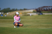 Mina Harigae (USA) lines up her putt on 2 during the round 3 of the Volunteers of America Texas Classic, the Old American Golf Club, The Colony, Texas, USA. 10/5/2019.<br /> Picture: Golffile   Ken Murray<br /> <br /> <br /> All photo usage must carry mandatory copyright credit (© Golffile   Ken Murray)