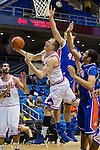 Texas-Arlington Mavericks forward Karol Gruszecki (33) in action during the game between the Houston Baptist Huskies and the Texas-Arlington Mavericks at the College Park Center arena in Arlington, Texas. UTA defeats Houston Baptist 81 to 47...
