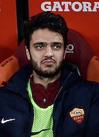 Calcio, Serie A: Roma, stadio Olimpico, 19 febbraio 2017.<br /> Roma&rsquo;s Cl&eacute;ment Gernier waits for the start of the Italian Serie A football match between As Roma and Torino at Rome's Olympic stadium, on February 19, 2017.<br /> UPDATE IMAGES PRESS/Isabella Bonotto
