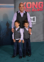 Tito Ortiz &amp; Family at the premiere for &quot;Kong: Skull Island&quot; at Dolby Theatre, Los Angeles, USA 08 March  2017<br /> Picture: Paul Smith/Featureflash/SilverHub 0208 004 5359 sales@silverhubmedia.com