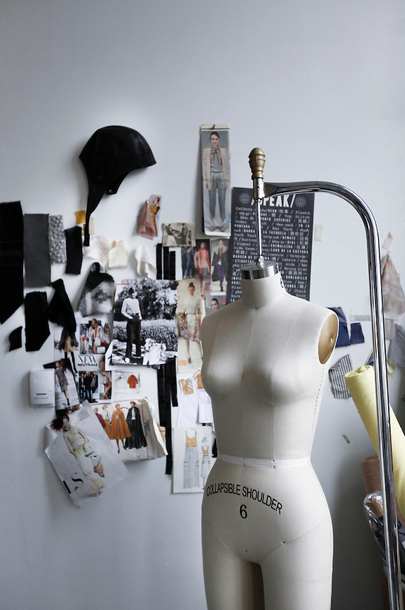 Scene at the The Portland Garment Factory, where designers and tailors are at work.
