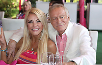 "27 September 2017 - Hugh Marston Hefner aka ""Hef"" was an American magazine publisher, editor, businessman, and international playboy best known as the editor-in-chief and publisher of Playboy magazine, which he founded in 1953. Hefner was the founder and chief creative officer of Playboy Enterprises, the publishing group that operates the magazine. Hefner was also a political activist and philanthropist. File Photo: 09 May 2013 - Holmby Hills, California - Hugh Hefner and wife, Crystal Harris. Playboy's 2013 Playmate Of The Year Luncheon Honoring Raquel Pomplun held at the Playboy Mansion. Photo Credit: Russ Elliot/AdMedia (Newscom TagID: admphotos907140.jpg) [Photo via Newscom]"