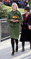 Crown Princess Mette Marit of Norway visits Notodden, during a three day visit to the county of Telemark, Norway,
