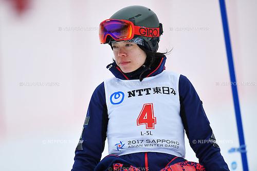 Eri Yanetani (JPN), <br /> FEBRUARY 20, 2017 - Snowboarding : <br /> Women's Slalom <br /> during the 2017 Sapporo Asian Winter Games <br /> at Sapporo Teine in Hokkaido, Japan. <br /> (Photo by AFLO SPORT)