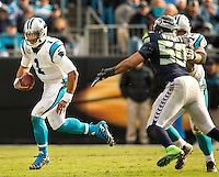Carolina Panthers vs. the Seattle Seahawks during theNFL Divisional  game Sunday afternoon January 17, 2016  at Bank of America Stadium in Charlotte, North Carolina.<br /> <br /> Charlotte Photographer: PatrickSchneiderPhoto.com