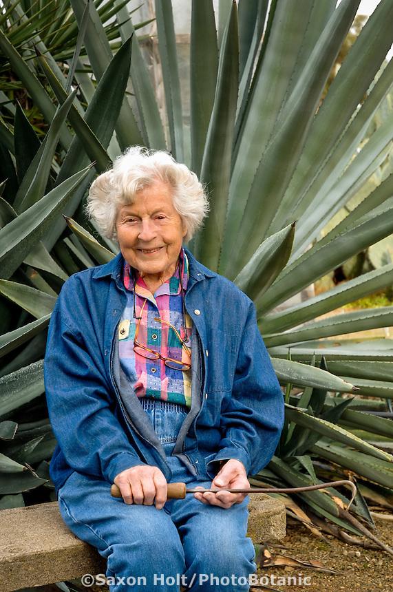 Ruth Bancroft in her garden. Age 96