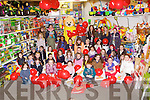 PRIZES: Children from all over Kerry who entered the Cabill ToymasterEaster art competition and on Saturday morning  at Cabills, Tralee they were presented with their prizes from the Easter Bunny.