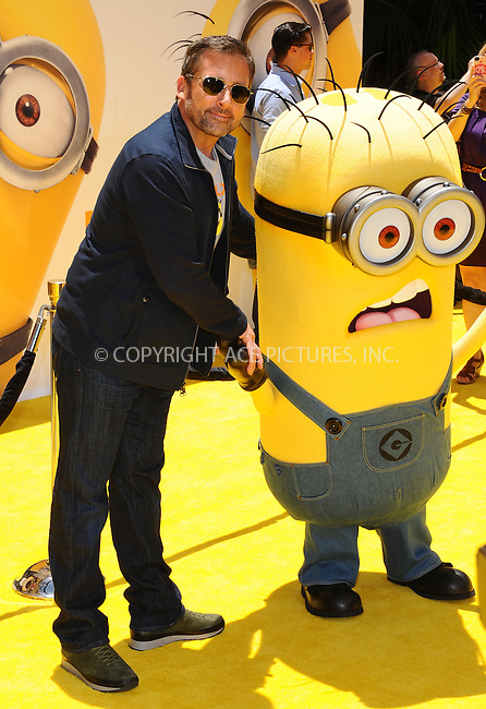 WWW.ACEPIXS.COM<br /> <br /> June 22 2013, New York City<br /> <br /> Steve Carell arriving at the 'Despicable Me 2' premiere at Universal CityWalk on June 22, 2013 in Universal City, California.<br /> <br /> <br /> By Line: Peter West/ACE Pictures<br /> <br /> <br /> ACE Pictures, Inc.<br /> tel: 646 769 0430<br /> Email: info@acepixs.com<br /> www.acepixs.com