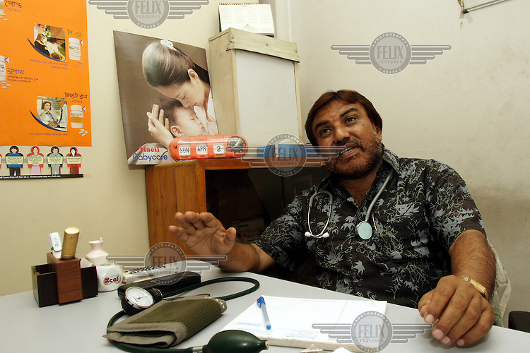 A doctor who advocates for women's rights in his Dhaka consulting rooms.