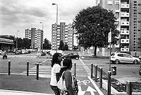 Milano, quartiere Quarto Oggiaro, periferia nord. Via Traversi --- Milan, Quarto Oggiaro district, north periphery