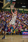 4 February 2014: University of Vermont Catamount Forward Clancy Rugg, a Senior from Burlington, VT, in action against the University of Maine Black Bears at Patrick Gymnasium in Burlington, Vermont. The Cats defeated the Bears 93-65 improving to 9-1 in America East and 15-9 overall. Mandatory Credit: Ed Wolfstein Photo *** RAW (NEF) Image File Available ***