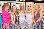 FRIDAY NIGHT LIVE: Amanda Brunker launching the Summer Colour Collection at the CH Chemist Friday Night Live l-r: Maria Guthire, Kathleen Jeffers, Amanda Brunker, Noreen Ferris and Fiona Barry.