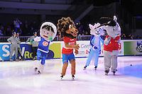 SHORTTRACK: DORDRECHT: Sportboulevard Dordrecht, 24-01-2015, ISU EK Shorttrack, Mascottes, Luuk, Kimo, Shorty, Gian, ©foto Martin de Jong