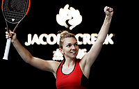 MELBOURNE,AUSTRALIA,25.JAN.18 - TENNIS - WTA World Tour, Grand Slam, Australian Open. Image shows the rejoicing of Simona Halep (ROU). Photo: GEPA pictures/ Matthias Hauer / Copyright : explorer-media