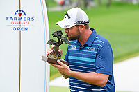 26th January 2020, Torrey Pines, La Jolla, San Diego, CA USA;  Marc Leishman kisses the trophy during the ceremony after winning the Farmers Insurance Open golf tournament at Torrey Pines Municipal Golf Course on January 26, 2020.