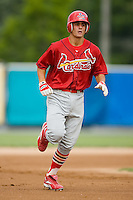Johnson City shortstop Pete Kozma (27) rounds the bases following his first professional home run in the 1st inning versus Princeton at Hunnicutt Field in Princeton, WV, Friday, August 10, 2007.